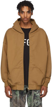 Fear Of God Brown Everyday Full Zip Hoodie