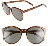 Saint Laurent Women's 'Classic' 54Mm Sunglasses - Olive Havana/ Silver