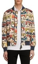 Burberry Reclining Figure-Printed Bomber Jacket