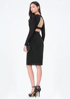 Bebe Mesh Bralette Midi Dress