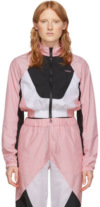 Kirin Pink and White Combo Track Jacket
