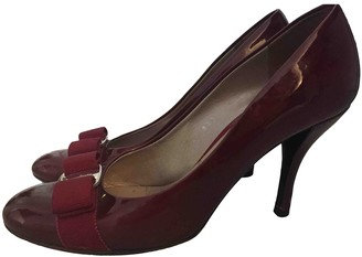 Salvatore Ferragamo Burgundy Patent leather Heels