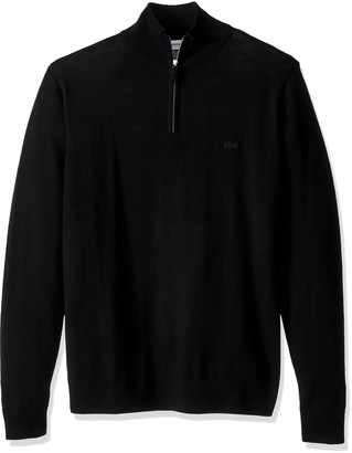 Lacoste Men's 100% Lambswool 1/4 Zip Sweater with Tonal Croc AH2989-51