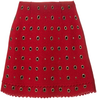 Moschino Pre Owned Eyelet Embellished Mini Skirt