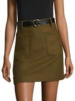Mo & Co Wool-Blend Mini Skirt