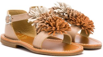 Gallucci Kids pom pom sandals