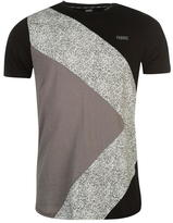 Fabric Splatter Panel T Shirt Mens