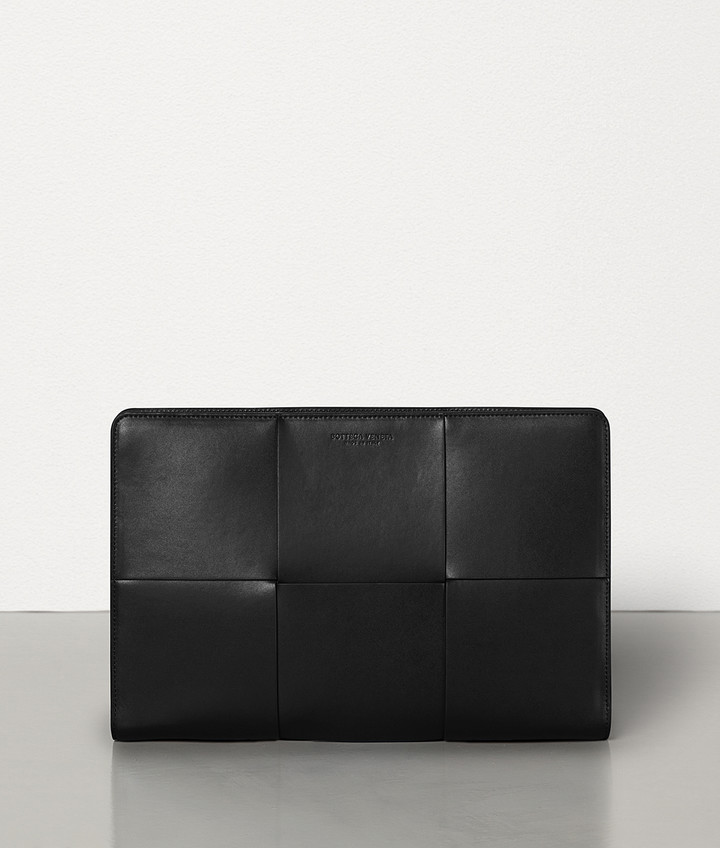 Bottega Veneta DOCUMENT CASE IN URBAN LEATHER CALF