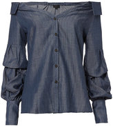 Exclusive for Intermix Beatriz Off Shoulder Chambray Top