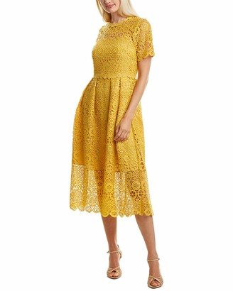 Maggy London Women's Short Sleeve Lace Fit and Flare