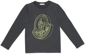 Moncler Enfant Logo cotton T-shirt