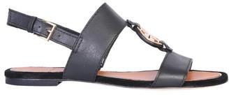 Tory Burch Logo Slingback Sandals