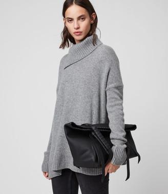 AllSaints Kepi Small East West Leather Tote Bag