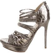 Alexandre Birman Metallic Cage Sandals