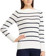 Chaps Women's Striped Boatneck Sweater
