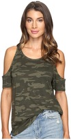 Sanctuary Lou Camo Bare Shoulder Tee Women's T Shirt