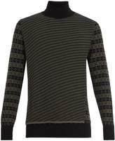 Maison Margiela Roll-neck wool-jacquard sweater