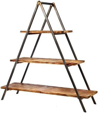 Godinger 3-Tier Wood & Metal Server Stand