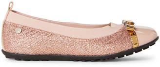 Naturino Toddler/Kids Girls) Pink Shimmer Ballet Flats