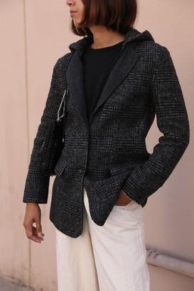 Wool Blend Hooded Coat