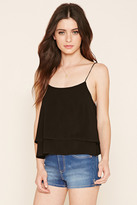 Forever 21 Lace-Up Cropped Cami