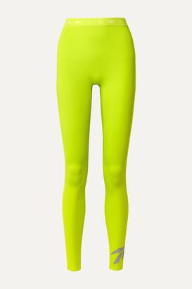 Reebok x Victoria Beckham Neon Stretch Leggings - Chartreuse