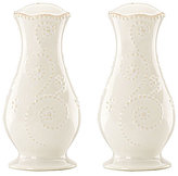 Lenox French Perle Scalloped Stoneware Salt & Pepper Shaker Set
