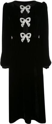 Saloni 10327 02/5379-BLACK/PEARL BOWS Natural (Veg)->Cotton