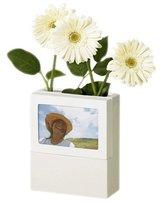 Umbra Fotoflora 4 X 6-Inch Frame Vase, white high gloss