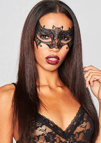 Missy Empire Addy Black Crochet Bat Mask
