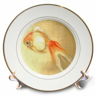 3drose 3dRose Japanese Goldfish - Porcelain Plate, 8-inch