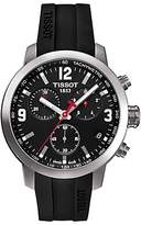 Tissot T0554171705700 Men's PRC 200 Chronograph Date Rubber Strap Watch, Black