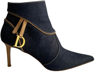 Christian Dior Blue Cloth Ankle boots
