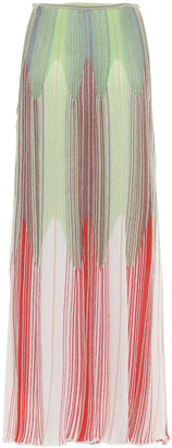 M Missoni Striped Ribbed Crochet-knit Mini Dress