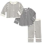 Petit Bateau Infant Boy's Henley Tee, Pants & Reversible Jacket Set