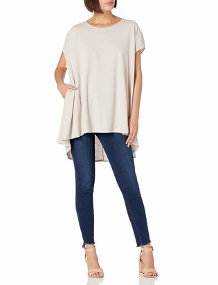 M Made in Italy Women's Short Sleeve Textured Tunic