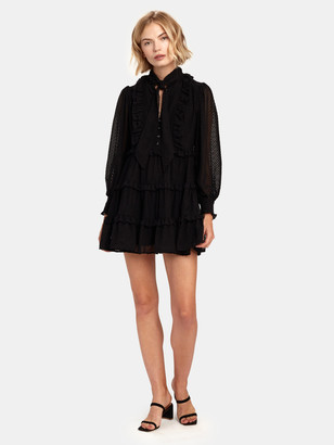 C/Meo Break in Two Long Sleeve Babydoll Dress