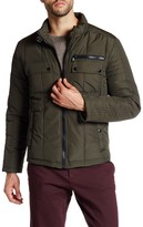 Kenneth Cole New York Stand-Up Collar Zip Jacket