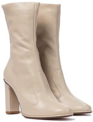 Max Mara Adela leather ankle boots