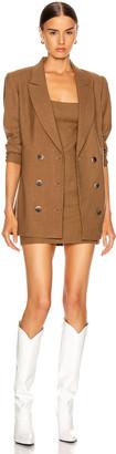 ZEYNEP ARCAY Wool Wrap Blazer in Taba | FWRD