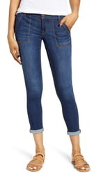 1822 Denim Roll Cuff Ankle Skinny Jeans