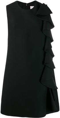Valentino Ruffle Detail Shift Dress
