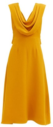 Emilia Wickstead Effie Draped Crepe Dress - Yellow