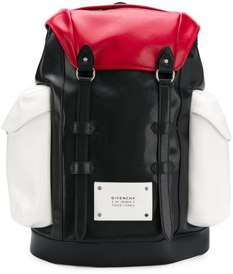 Givenchy panelled multi-pocket backpack