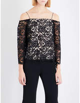 Alice + Olivia Alice & Olivia Prena off-the-shoulder lace top