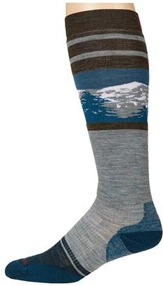 Smartwool PhD(r) Snow Light Elite Pattern (Lunar Gray) Men's Crew Cut Socks Shoes