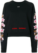 Off-White cherry oversized sweatshirt