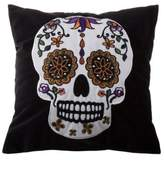 Halloween Sugar Skull Mini Throw Pillow in Black/White