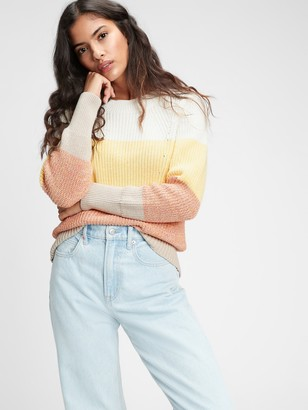 Gap Relaxed Ribbed Crewneck Sweater