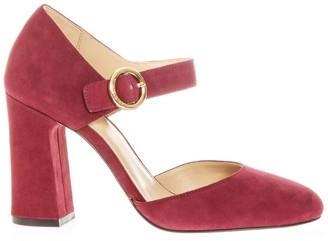 MICHAEL Michael Kors Dark Pink Alana Sandals In Leather